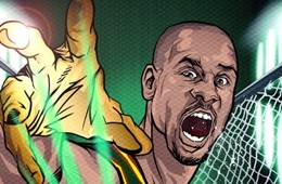 Gary Payton Golden Gloves Art