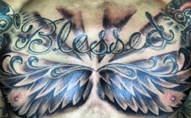 George Hill Got A Huge Chest Tattoo