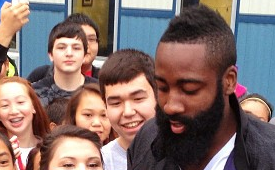 James Harden, Kendrick Lamar Visit Alaska High School