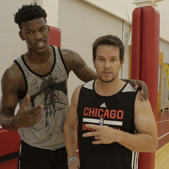 Mark Wahlberg Played 1-On-1 With Jimmy Butler