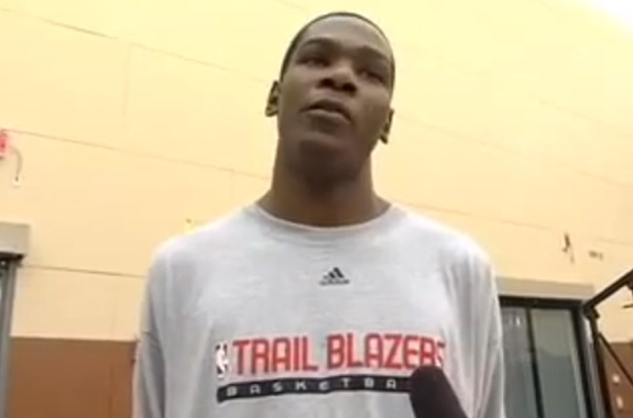 Kevin Durant Draft Workout and Interview With Portland