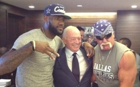 LeBron James and Hulk Hogan At the Dallas Cowboys Game