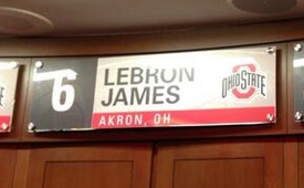 LeBron James Has A Locker In The Ohio State Basketball Locker Room