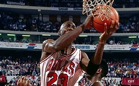 Michael Jordan Lay-up Rim Attack Highlights