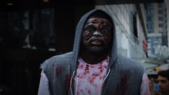 Amir Johnson Does The Toronto Zombie Walk