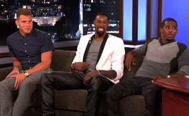 Blake Griffin, DeAndre Jordan, and Chris Paul On Jimmy Kimmel Live