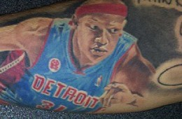 Pistons Fan Gets Charlie Villanueva Tattoo