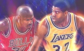 Michael Jordan vs Magic Johnson 'Duel of Legends' Art