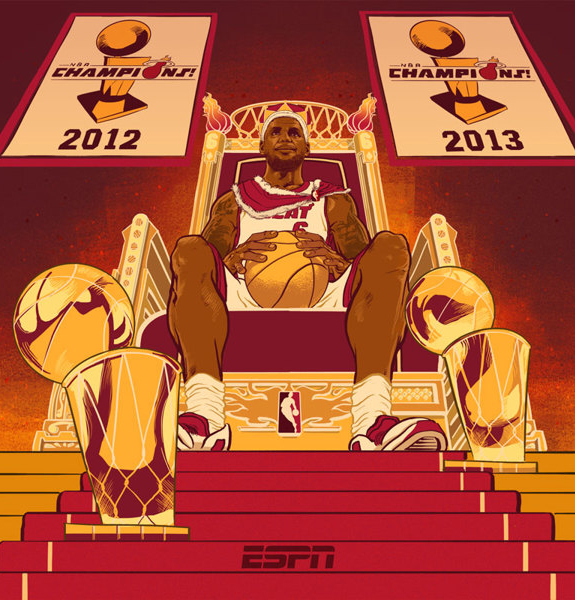 LeBron James 'Reign of a King' Illustration