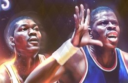 Hakeem Olajuwon vs Patrick Ewing 'Duel of Legends' Art