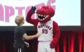 How The Raptors Mascot Injured His Achilles