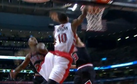 DeMar DeRozan Dunks All Over Joakim Noah