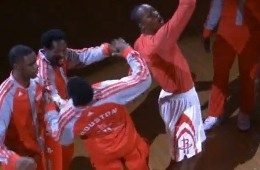 Dwight Howard Stars In the Rockets Pre-Game Kung Fu Skit