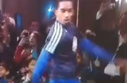 JR Smith Was Pre-Game Dancing