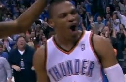 Russell Westbrook Sinks The Warriors