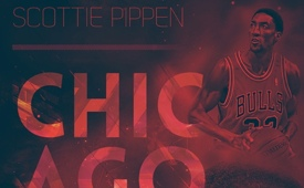 Scottie Pippen Franchise Legend Art