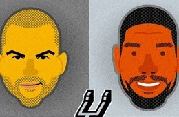 Spurs Big Four Character Portrait