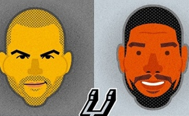 Spurs Big Four Caricature Portrait