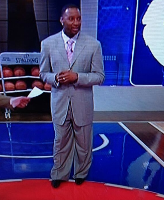 Tracy McGrady In the Biggest Suit Ever