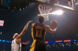 Wesley Johnson Reverse Jam on Paul Pierce