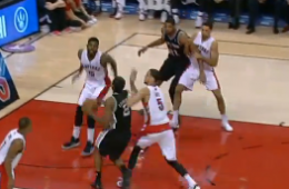 Amir Johnson Violently Blocks Kawhi Leonard at the Rim