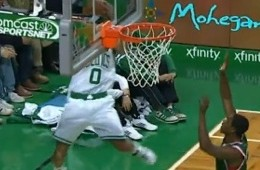 Avery Bradley Goes Over the Backboard-ley