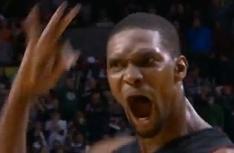 Chris Bosh Hits a Deep Three to Beat the Blazers