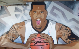 Demarcus Cousins 'Sleep Train Arena' Mural