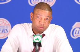 Doc Rivers Emotinal at the Podium After Boston Return