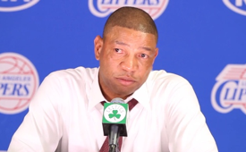Doc Rivers Emotional at the Podium After Boston Return
