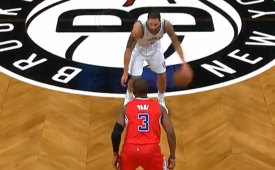Deron Williams Hits Chris Paul With The Cross
