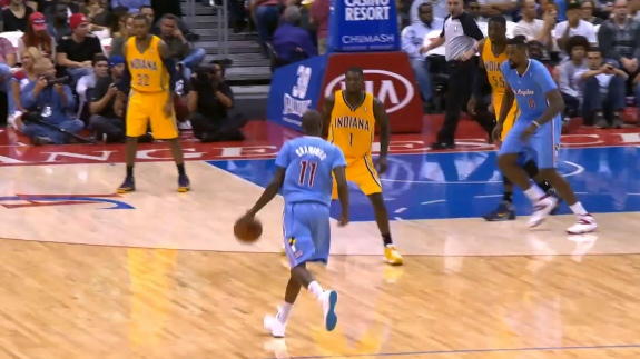 Jamal Crawford Hits Lance Stephenson With the Crossover