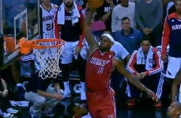 LeBron James Posterizes Paul Millsap