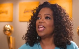 Magic Johnson Shows Oprah His Trophy Room