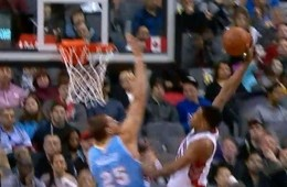 Timofey Mozgov Monster Block On Rudy Gay