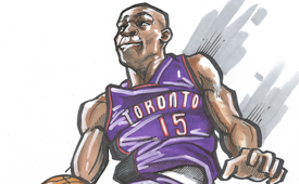Vince Carter '2000 Dunk Contest' Illustration