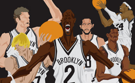 Brooklyn Nets 'Attack the Block' Caricature Art