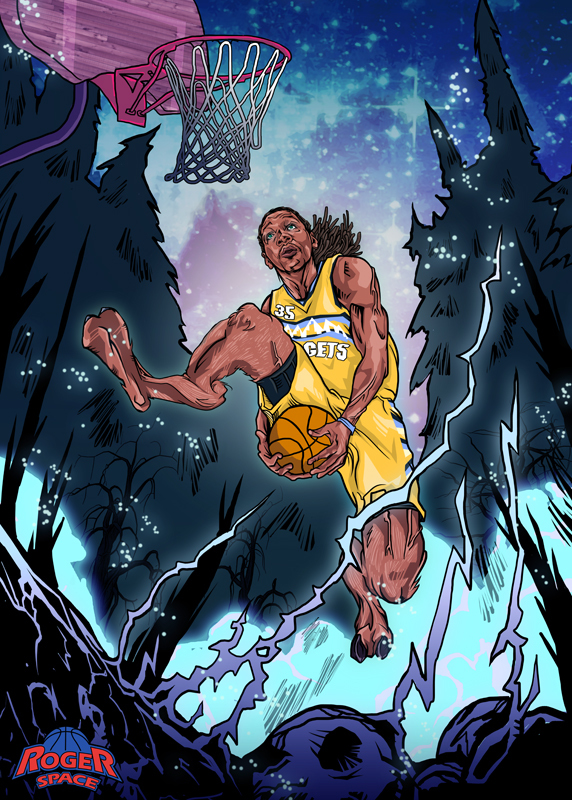 Kenneth Faried 'Nocturnal Manimal' Illustration