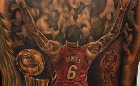 Heat Fan Gets Huge LeBron James Mural Tattoo On His Back