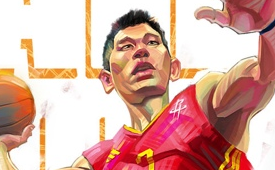 Jeremy Lin 'All In For JLin' Caricature Art