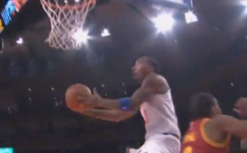 JR Smith Blows By Anthony Bennett For the Slam