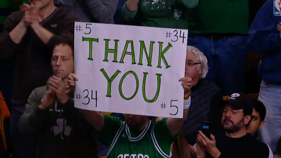 Paul Pierce and Kevin Garnett Get a Warm Welcome Back In Boston Return