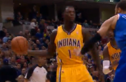 Lance Stephenson With the Razzle, Dazzle, Dish and Dances