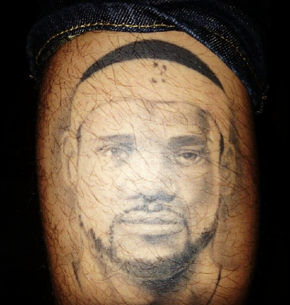 Fan Gets a Pretty Cool / Creepy / Awesome LeBron James Tattoo