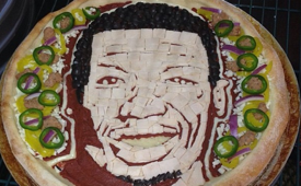 Nate Robinson Gets a Custom Pizza Hut Portrait Pizza