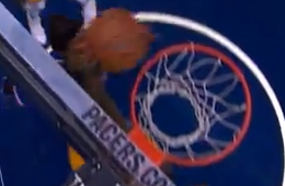 Roy Hibbert Blocks Carmelo Anthony at the Rim -- Again