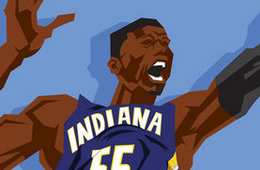 Roy Hibbert 'Big Boy' Caricature Art