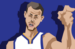 Stephen Curry 'All-Star Game Bound' Caricature Art