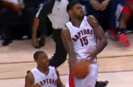 Amir Johnson Fastbreak Windmill Jam