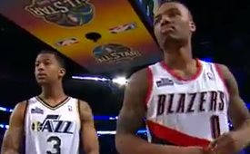 Damian Lillard and Trey Burke Win the Skills Challenge